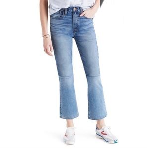 Madewell Retro Crop Bootcut Hi Rise Two-Tone Jeans